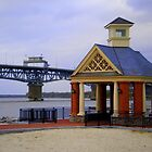 Yorktown Virginia Gazebo and Coleman Bridge by BrowncoatAllie