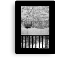 The Balcony View  Canvas Print