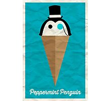 Peppermint Penguin Photographic Print