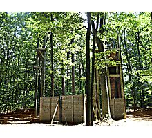 Mysterious Abandoned Structure In The Forest Photographic Print