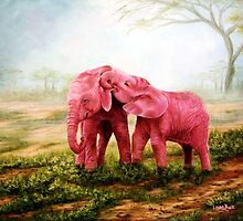 Pink Elephants by Laura Curtin