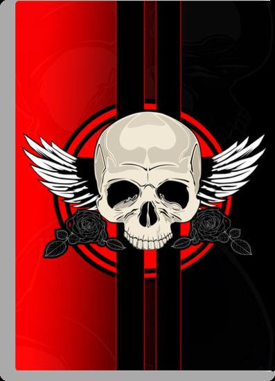 Wing Skull - RED by Adamzworld