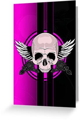 Wing Skull - PINK by Adamzworld