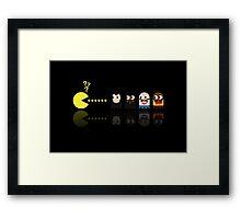 Pacman Pulp Fiction Framed Print