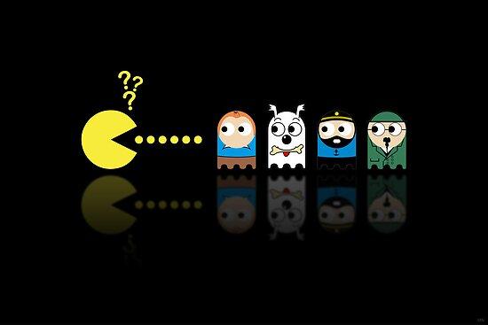Pacman Tintin by NicoWriter