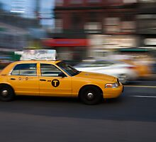 yellow cab by Marta Grabska-Press