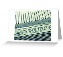 Retro Piano Accordian Greeting Card