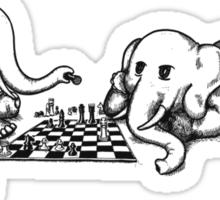 Elephants Playing Chess Sticker