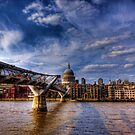 St Paul's and Millennium Bridge by Dean Messenger