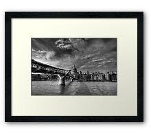St Pauls Black and White Framed Print