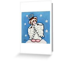 Angel in Pink Fuzzy Slippers Greeting Card
