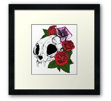 Kitty Skull Framed Print