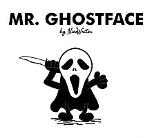 Mr Ghostface Photographic Print