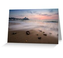 Eastbourne pier sunrise Greeting Card