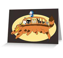 Cat Catbus Greeting Card