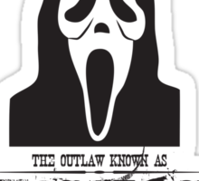 Wanted Ghostface Sticker
