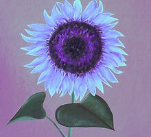 Purple Sunflower by Elizabeth Lock