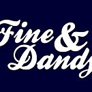 Fine & Dandy Navy White Card by M  Bianchi
