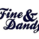 Fine & Dandy White Navy Card by M  Bianchi