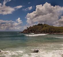 Cabarita Surfing by Ron Finkel