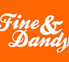 Fine & Dandy Orange White Card by M  Bianchi