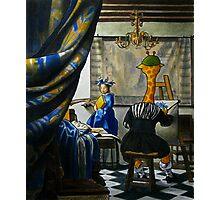 Art Giraffe- Allegory of Painting Photographic Print