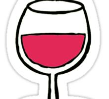 Wine makes mummy clever Sticker