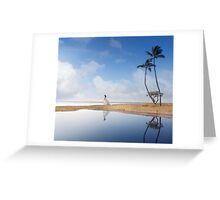 A Bride In Paradise Greeting Card