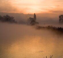 Morning Mist Mapledurham by Jim Hellier