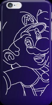 Blue Mario by aussiecandice