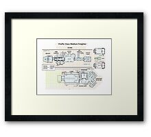 Firefly 03-K64 floorplan only Framed Print