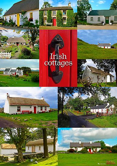 Irish Cottages by Andrés Hurtado
