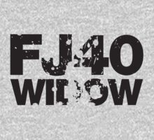 Fj40 Widow Bold Splat by FJ40Widow