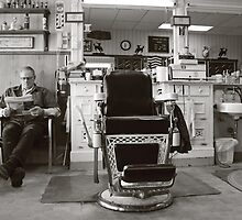 Small Town America ~The Barber Shop by Rachel Sonnenschein