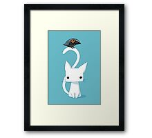 Cat and Raven Framed Print