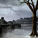 A Winter Thunderstorm Over Nevermore Pond by Sazzart