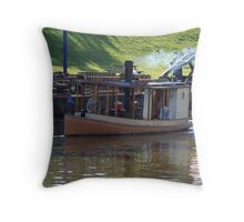 Steam Launch Sayonara Throw Pillow
