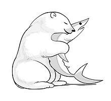 Bear Hugging a Shark by sharkandfriends