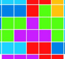 I Love Colourful Blocks Sticker