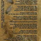 """Live Your Life""  on old parchment, Chief Tecumseh by Irisangel"