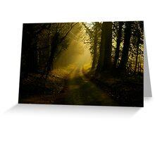 Fox & Pin Lane,Spring,Bury St Edmunds Greeting Card