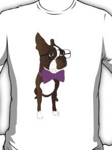 Hipster Boston Terrier T-Shirt
