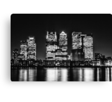 London City Skyline - Monochrome Canvas Print