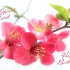 Spring Japonica Friend Birthday Card by LouiseK