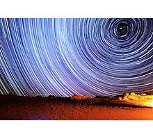 Incredible Galaxy Star Trails Over Death Valley Photographic Print
