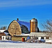 Winter Farm by EBArt