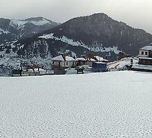 Snowy soccer field by parvmos