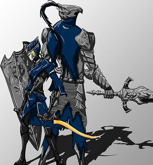 Dark Souls: Artorias and Ciaran by CheeseCann0n