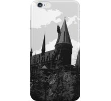 Grey-scale Hogwarts iPhone Case/Skin