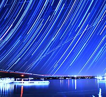 Star Trails Over Big Bear Lake  by Gavin Heffernan